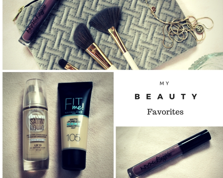 My current beauty favorites